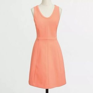 Like new J. Crew factory crepe dress coral haze